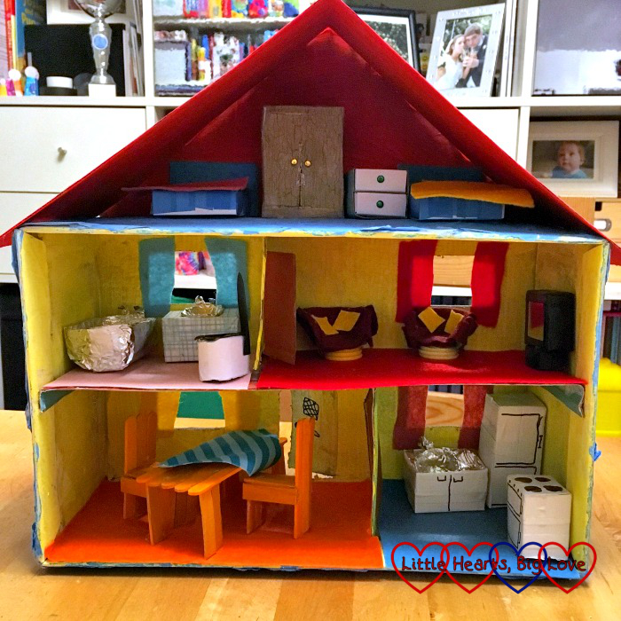 Our shoebox house complete with furniture