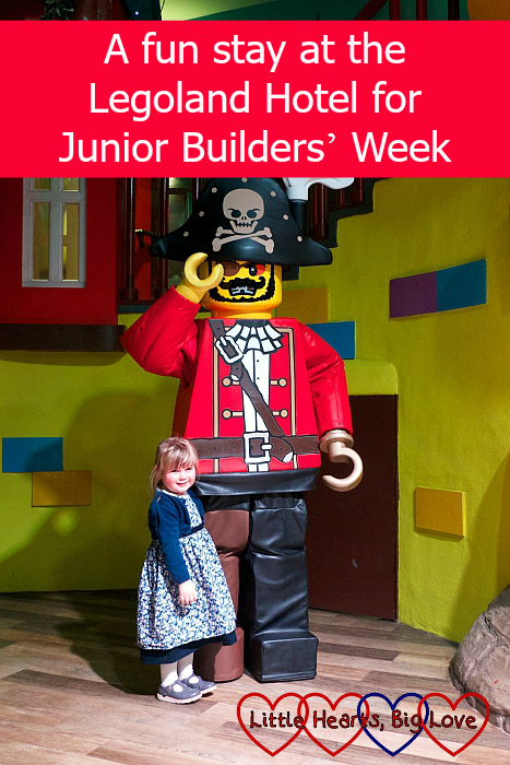Sophie with the Lego Pirate Captain -
