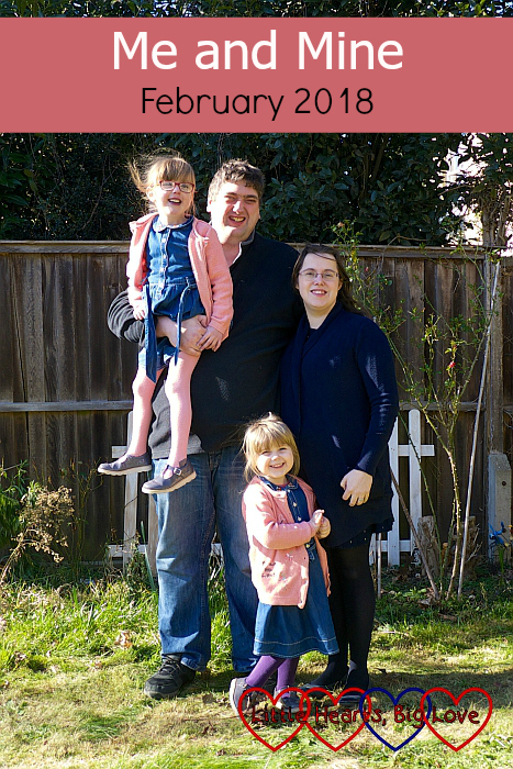 """Me, hubby, Jessica and Sophie in the garden - """"Me and Mine - February 2018"""""""