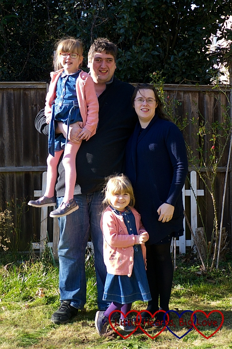Me, hubby, Jessica and Sophie in the garden