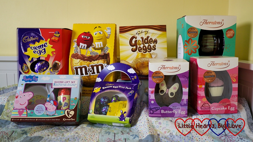 A selection of eight Easter eggs from the range at Debenhams