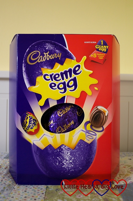 The Cadburys Creme Egg giant Easter Egg