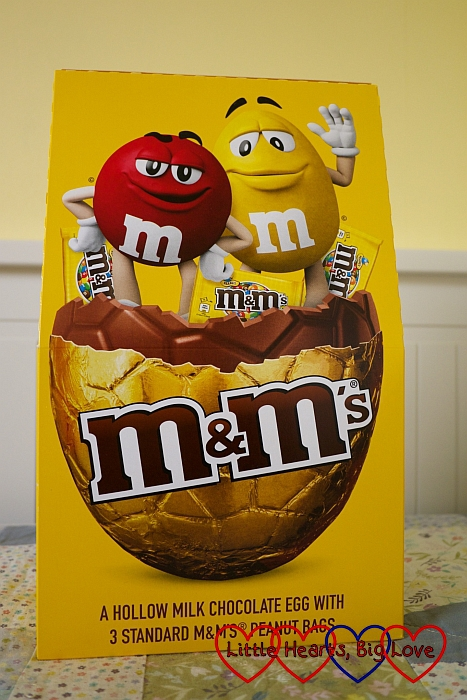 The M&Ms large Easter egg