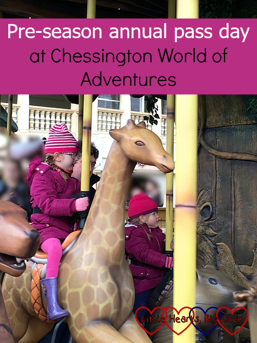 """Jessica and Sophie on the Adventure Tree carousel ride - """"Pre-season annual pass day at Chessington World of Adventures"""""""
