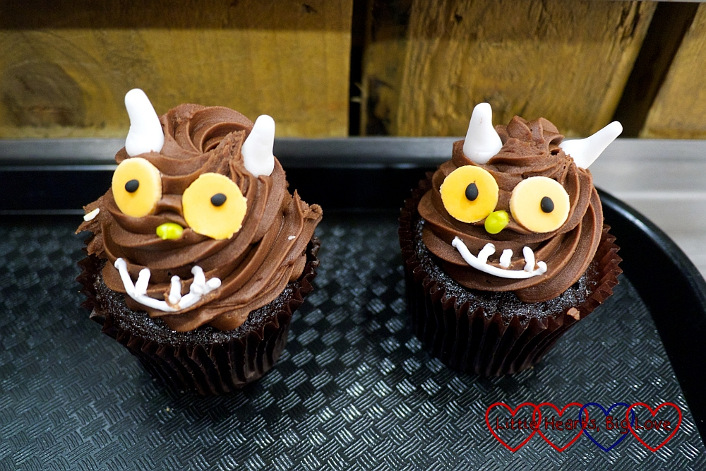 Gruffalo-themed cupcakes