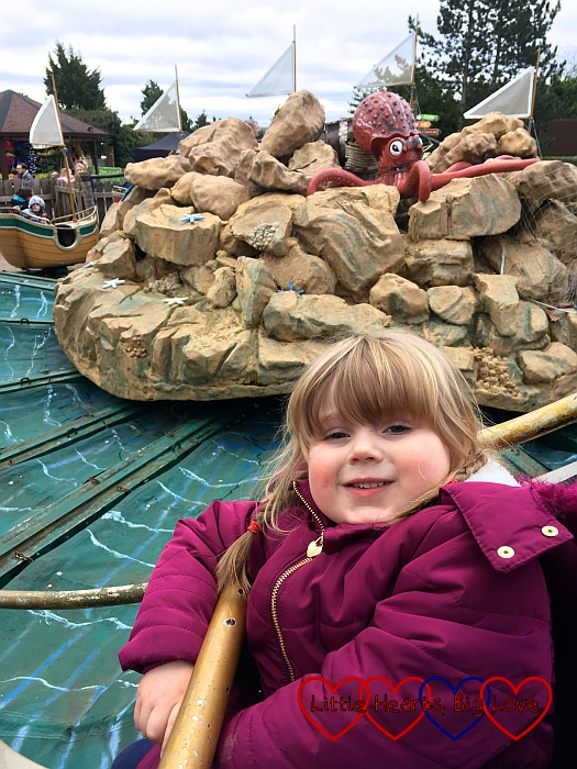 Sophie on the Sea Storm ride