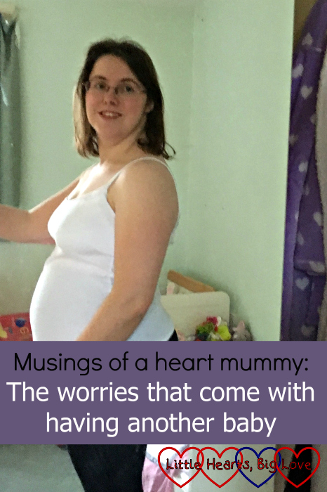 "Me at 10 weeks' pregnant - ""Musings of a heart mummy: the worries that come with having another baby"""
