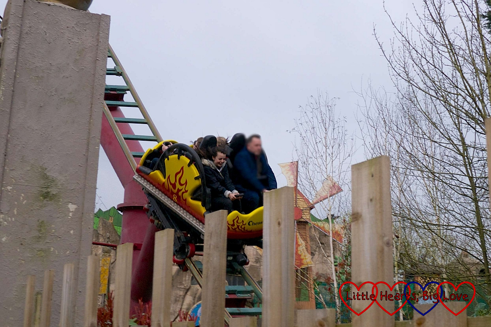 Ebony on Dragon's Fury at Chessington