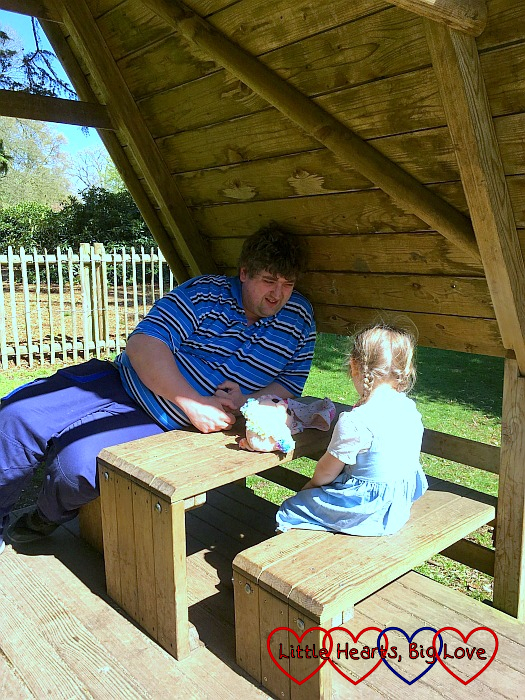 Sophie and Daddy at Langley Park