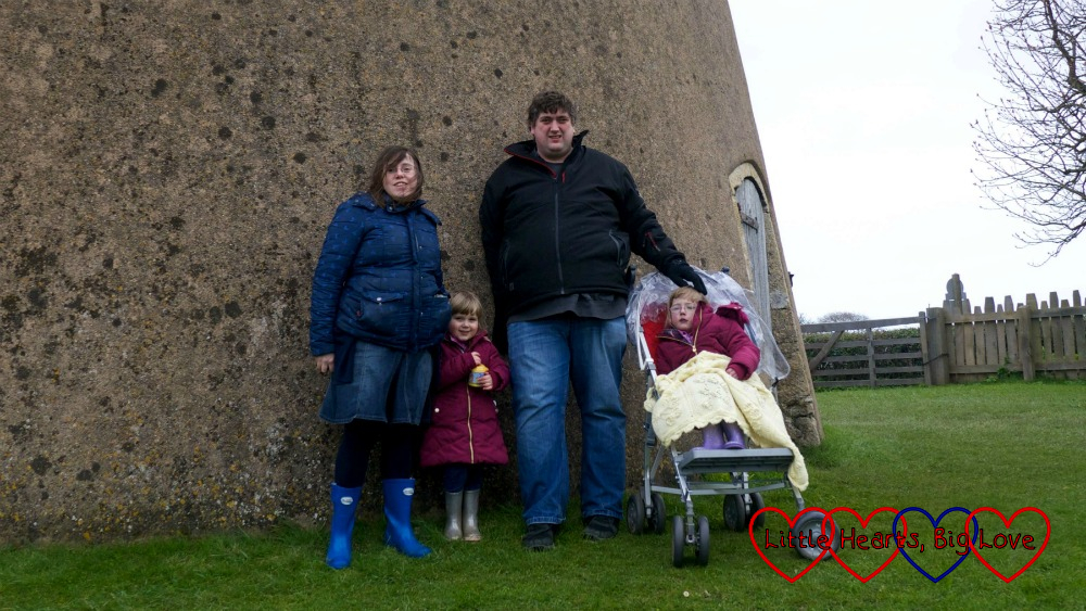 Me, Sophie, hubby and Jessica at Bembridge Windmill