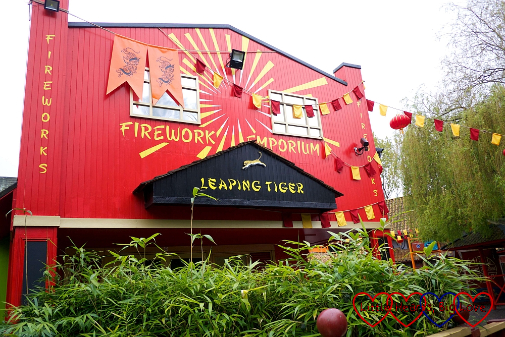 The fireworks emporium in Land of the Tiger