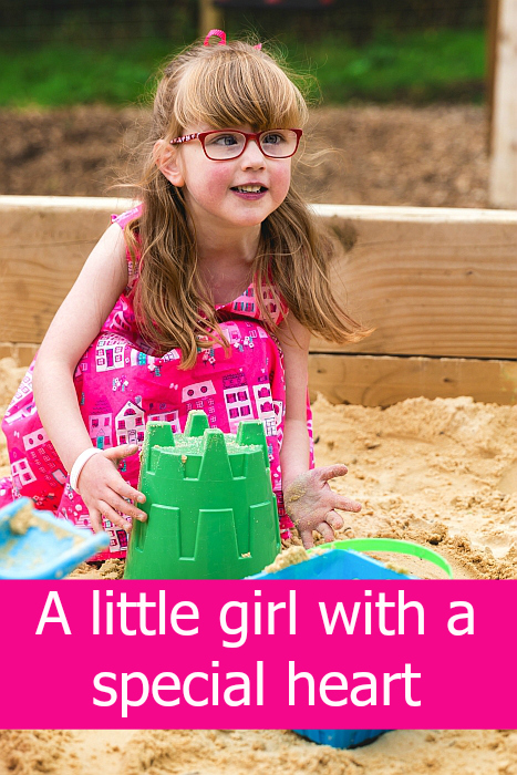 "Jessica playing in the sand at Denham Country Park - ""A little girl with a special heart"""