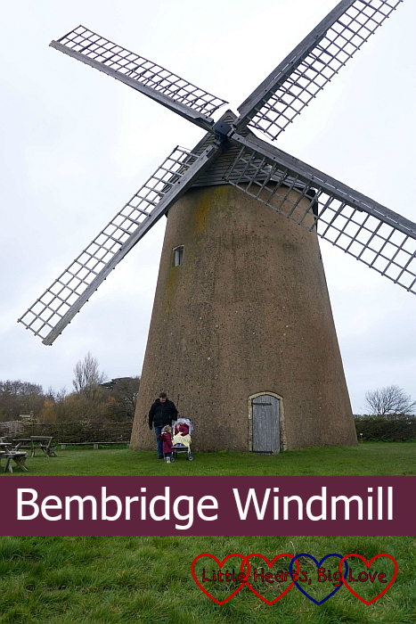 Me, hubby, Jessica and Sophie outside Bembridge Windmill