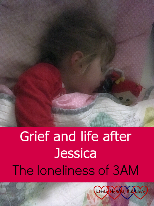 "Jessica asleep in her bed, cuddled up with her Kerry - ""Grief and life after Jessica - the loneliness of 3AM"""