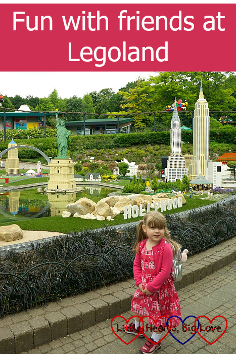 "Sophie standing near the new Miniland USA area - ""Fun with friends at Legoland"""