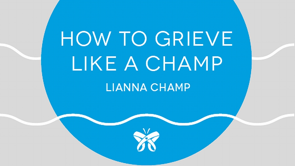 "The cover of ""How to Grieve Like a Champ"""