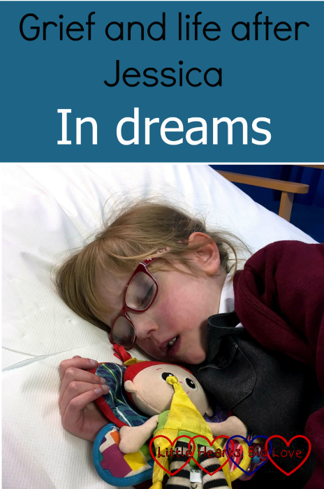 "Jessica asleep on the paediatric assessment unit, cuddling her Kerry - ""Grief and life after Jessica: in dreams"""
