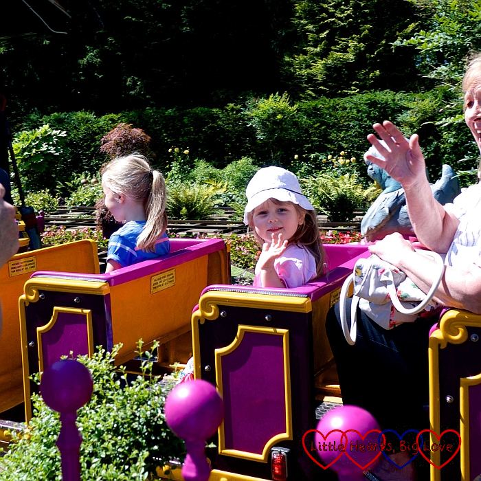 Sophie on the Professor Blast's Expedition Express train ride