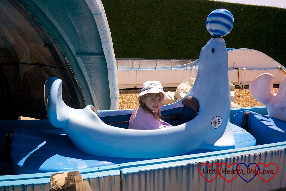 Sophie on the Seal Falls ride
