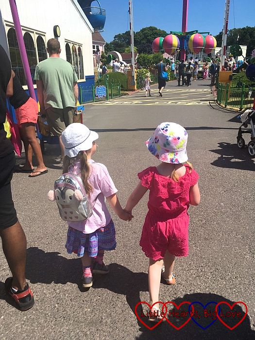 "Sophie walking hand-in-hand with one of her new ""best friends"""