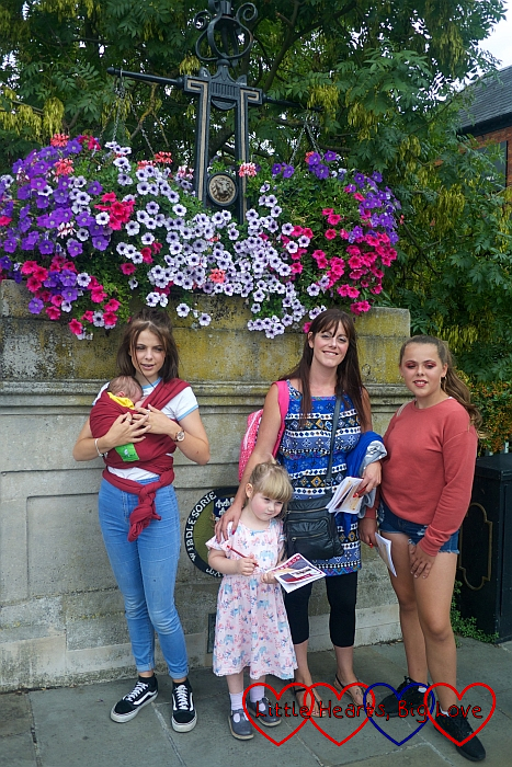 My sister, nieces, Thomas and Sophie on the bridge