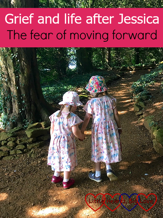"Sophie holding Jessica's hand and helping lead her on - ""Grief and life after Jessica: the fear of moving forward"""