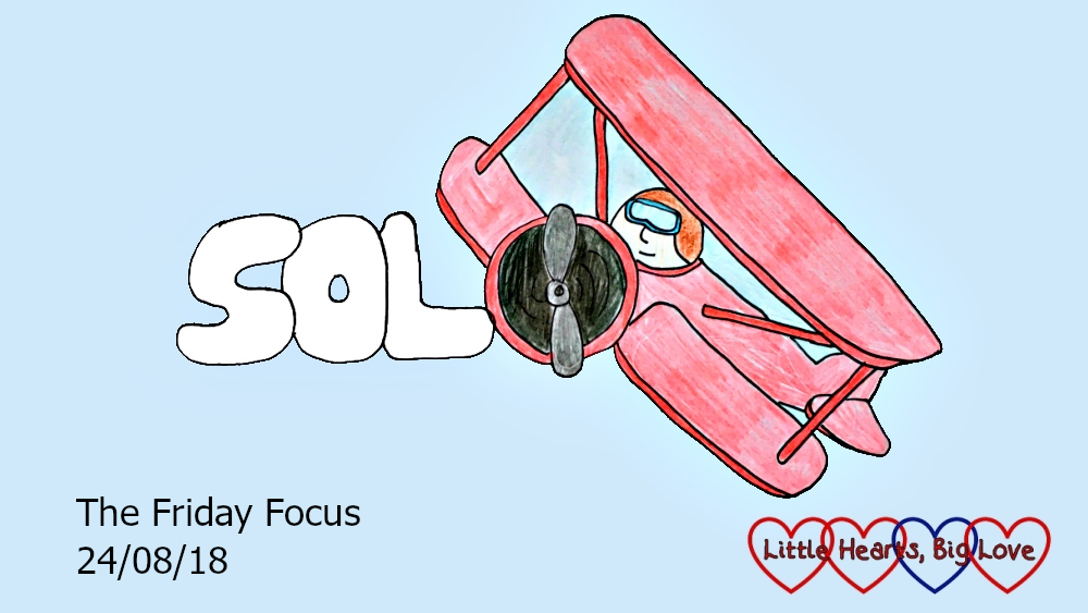 "A picture of the word ""solo"" with a biplane"