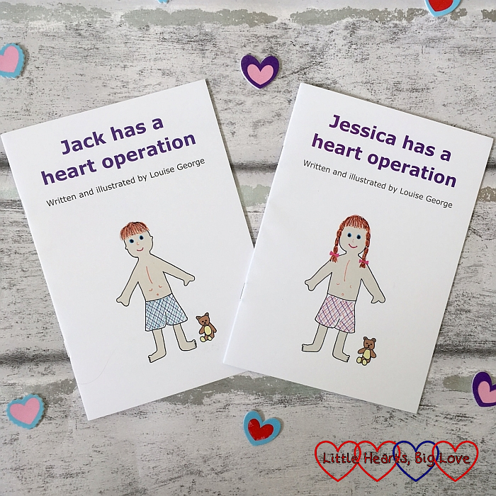 "My books - ""Jack has a heart operation"" and ""Jessica has a heart operation"""