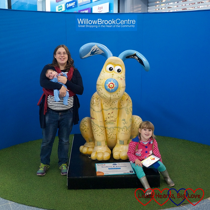 Me, Sophie and Thomas with one of the Gromit sculptures