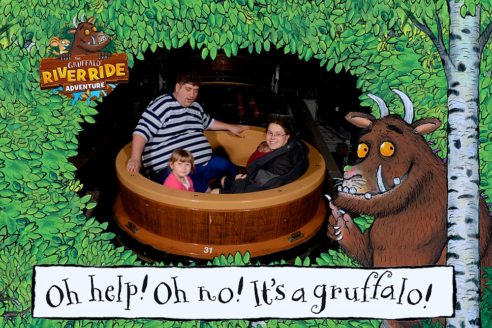 Me, hubby, Thomas and Sophie on the Gruffalo River Ride Adventure