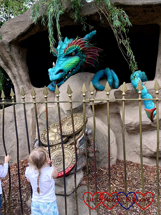 Sophie wakes the dragon at Chessington