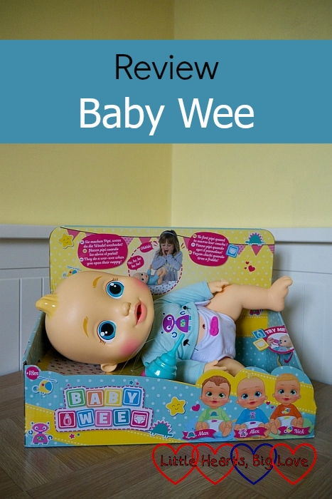 "The Baby Wee Alex doll in its box - ""Review - Baby Wee"""