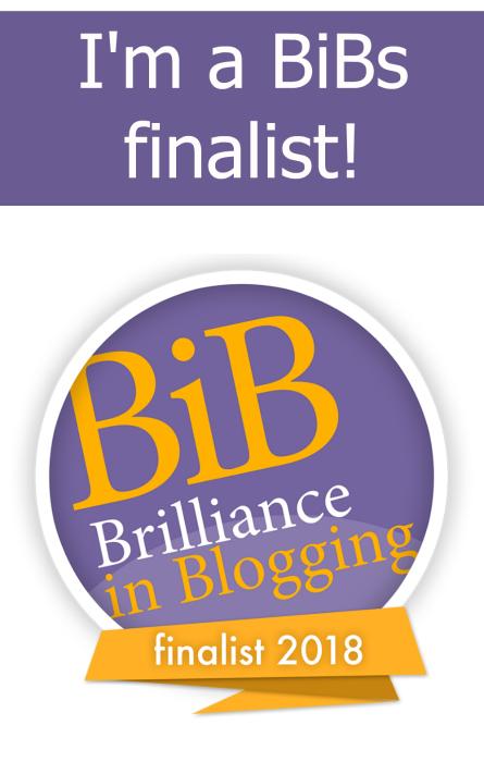 """The #BiBs2018 finalists badge - """"I'm a BiBs finalist!"""""""