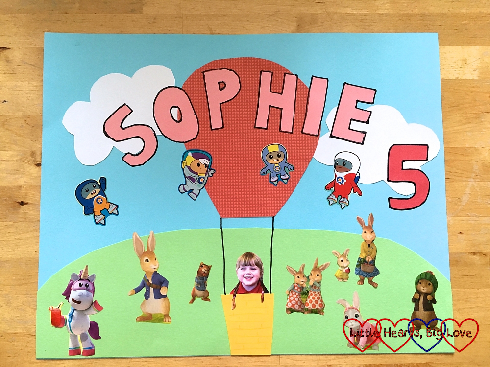 Sophie's birthday card for CBeebies