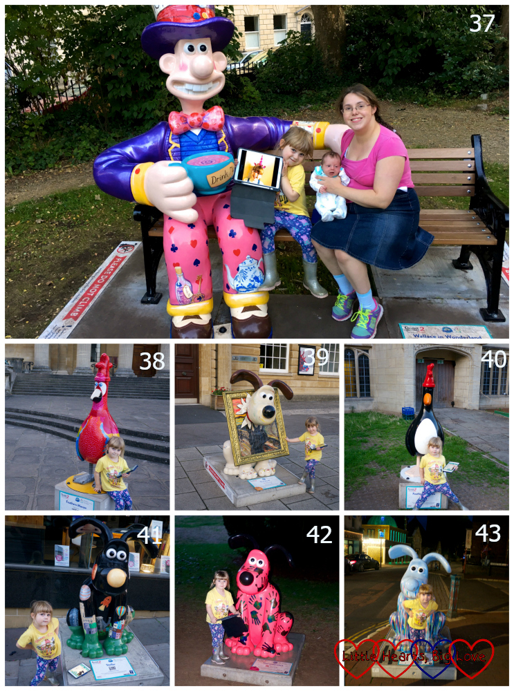 Sculptures 37-43 - Wallace in Wonderland, Feathers Macaw, The Howl, Feathers McGraw, Stellar, Thermogromit, Splash