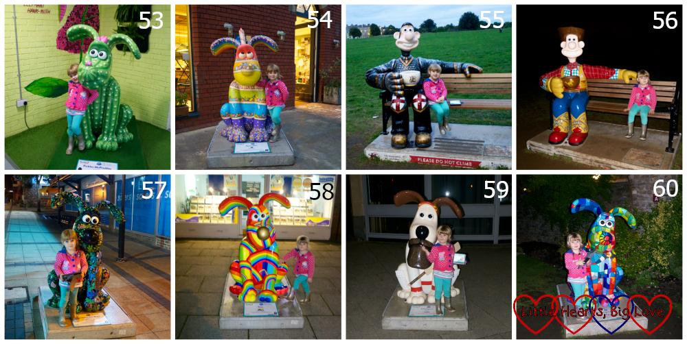 Sculptures 53-60 - Pickles McPrickles, Sprinkles, George, The Wensleydale Kid, Honeysuckle Rose, Toto, Champion and Amazing Grace