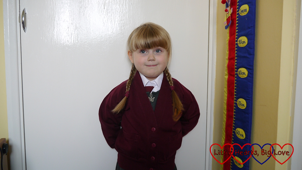 Sophie in her school uniform