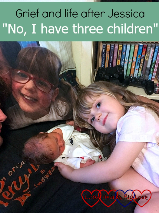 Sophie and Thomas with Jessica's photo cushion -