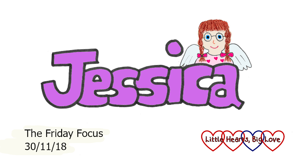 "The word ""Jessica"" with a picture of our heart angel"