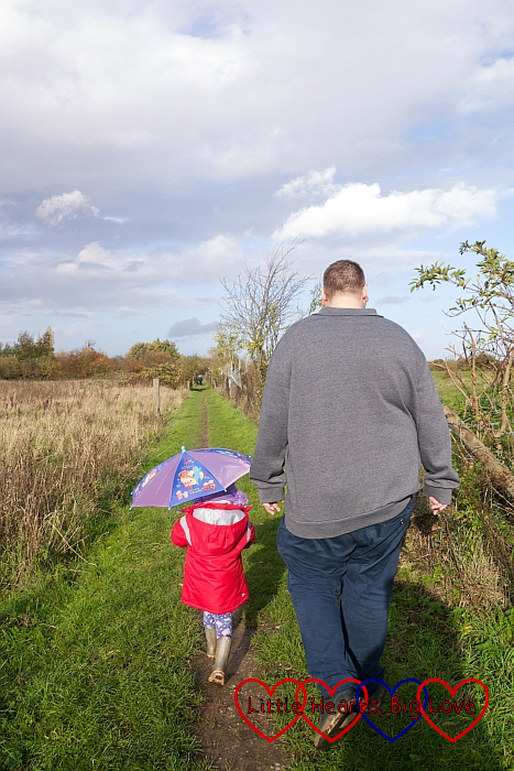 Hubby and Sophie heading out on a walk