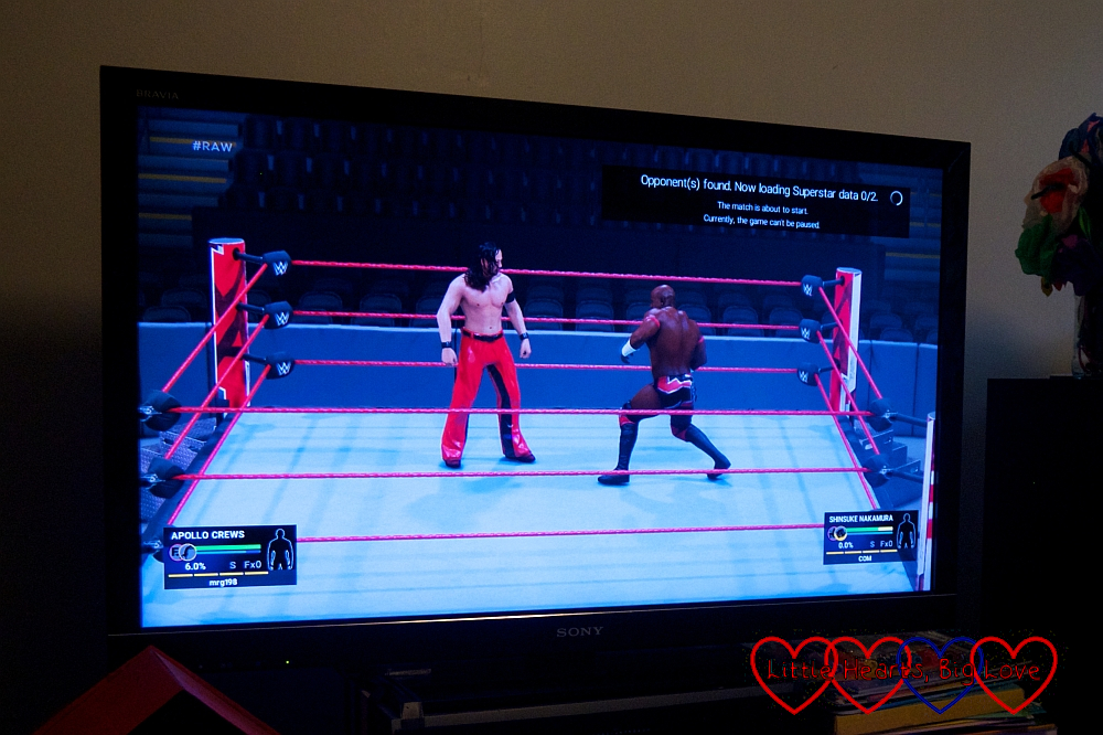 A screenshot from WWE19