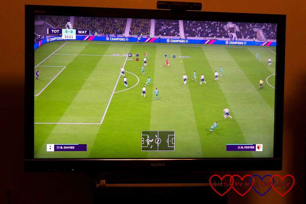 A screenshot from FIFA19