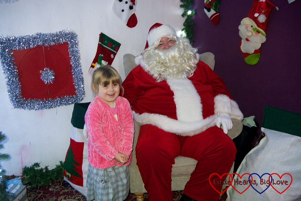 Sophie with Father Christmas