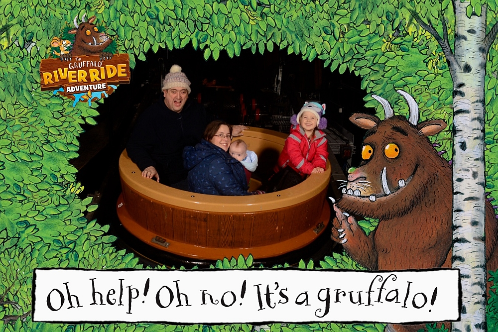 Hubby, Sophie, me and Thomas on the Gruffalo River Ride Adventure