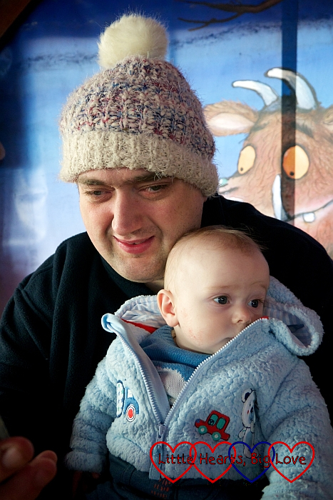 Hubby and Thomas in the Gruffalo's Kitchen