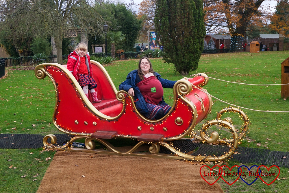 Me with Thomas and Sophie on a sleigh