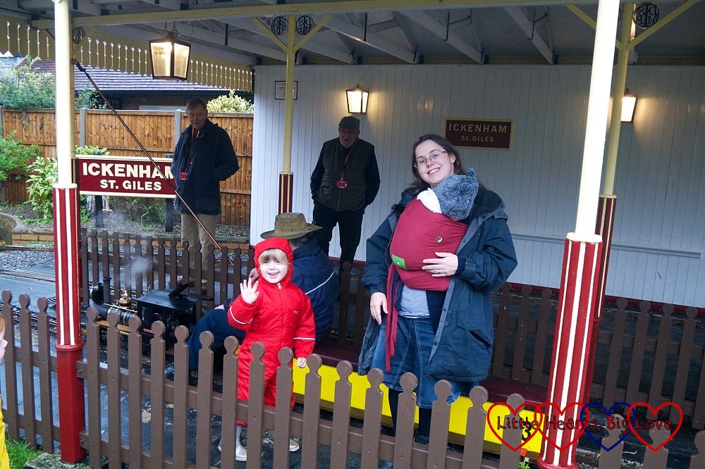 Me, Thomas and Sophie at Ickenham Miniature Railway