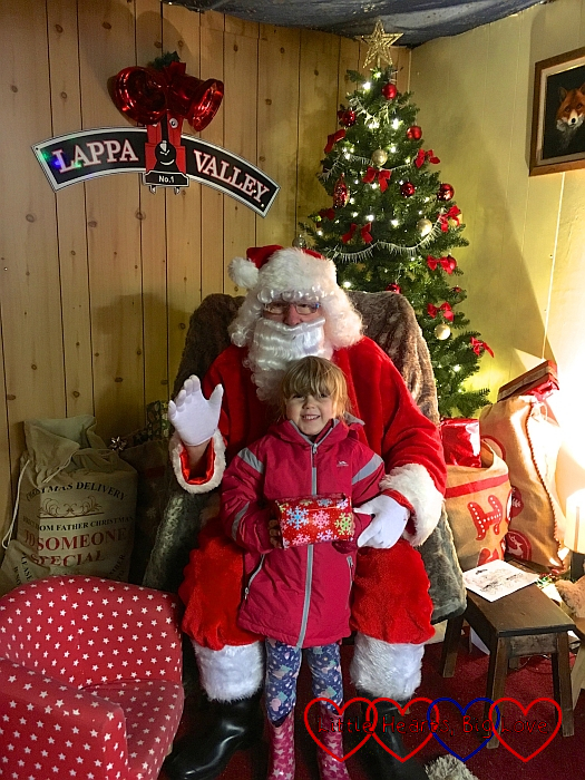 Sophie with Santa at Lappa Valley