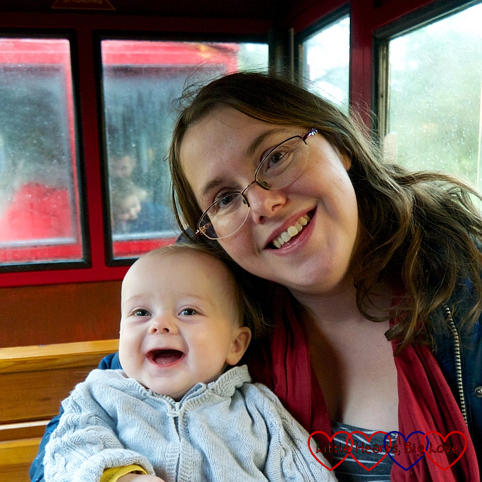 Me and Thomas on the steam train