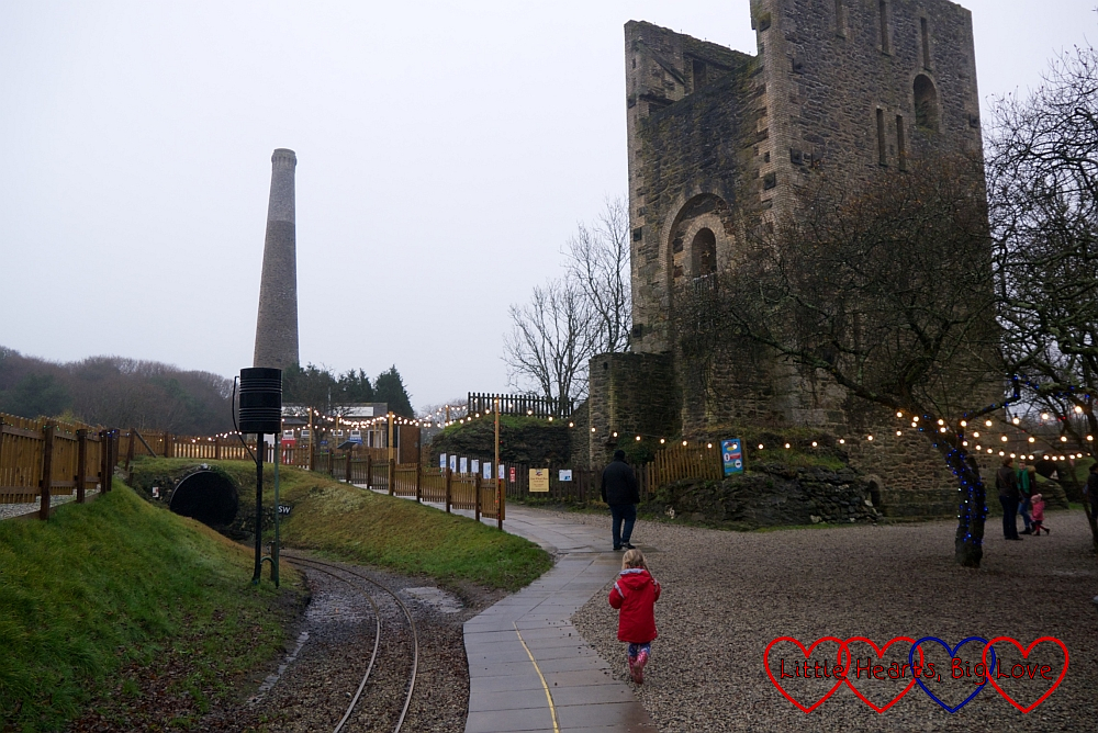 The mine engine house and chimney at East Wheal Rose